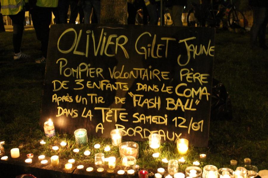 Des bougies pour Olivier